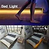 Motion Activated Bed Light, 6FT(1.8M) Under Bed Light Kit, Waterproof IP65, Flexible LED Bed Strip Motion Sensor Night Light Bedside Lamp Illumination with Automatic Shut Off Timer