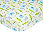 Stretchy Fitted Crib Sheets Set-Brolex 2 Pack Portable Crib Mattress Topper for Baby Boys Girls,Ultra Soft Jersey,Full Standard,Space Planet