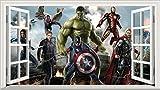 Chicbanners Marvel Avengers Superhero V301 - Adhesivo Decorativo para Pared (1000 mm de Ancho x 600 mm de Profundidad)