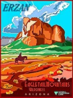 ERZAN30x40cmメタルポスター壁画ショップ看板ショップ看板イーグル尾マウンテンアリゾナビンテージアメリカ旅行広告家の装飾ブリキ看板