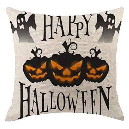 HEVÜY Halloween kussensloop geometrisch kussensloop wooncultuur kussen afdekking strepen linnenmix bedkussensloop Pillowcase nekkussen 45X45 cm