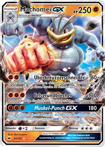 Machomei GX 64/147 Pokémon Sonne & Mond Nacht in Flammen Sammelkarte - Deutsch - Cardicuno