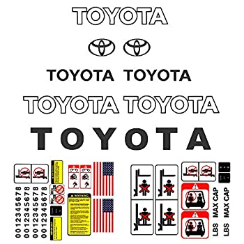 Bill's Lift Forklift Decal Kit for Toyota Industrial Lift Trucks and Equipment Detailed w/Safety Decal Stickers for 7 & 8 Series - Dark Grey