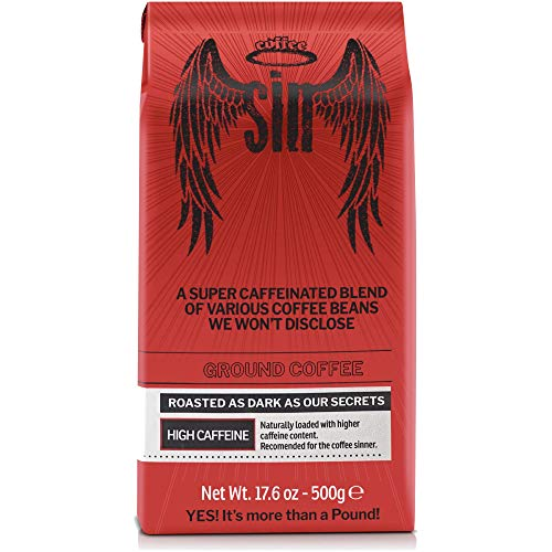 Coffee SIN Performance Coffee | The World s Strongest Coffee with the Highest Caffeine Content | Ground. 17.6 Oz