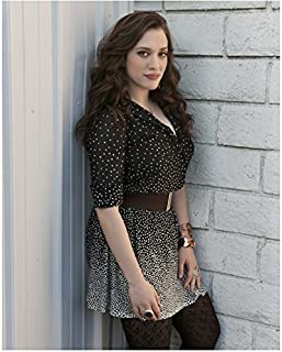 Kat Dennings in Short Black with White Dress Mid Modeling Photo 8 inch x 10 inch PHOTOGRAPH
