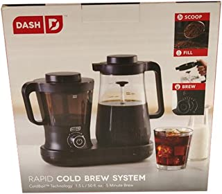 Dash DCBCM500BK Cold Brew Machine, Black