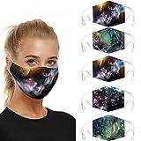 WiHoo 3-10 STÜCKE Face Cover Multifunktionstuch Motorrad Winddicht Atmungsaktiv Mundschutz Halstuch Schön Atmungsaktiv Sommerschal Augenschutz