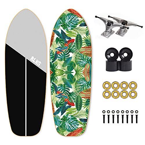 REWE Skateboard Cruiser para Principiantes,Tabla de Surf Big Fish de 7 Capas, 30 Pulgadas,Monopatín de Madera de Arce Niñas Niños Adolescentes Adultos patineta Tabla de Surf de Skate