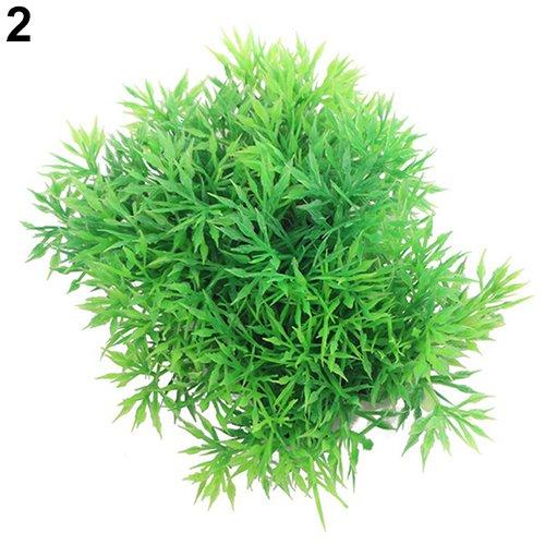 YUnnuopromi - Planta artificial de plástico para acuario 2