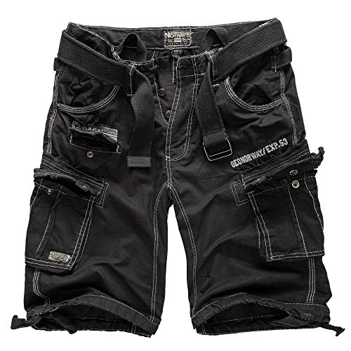 Geographical Norway Cargo Shorts Hunter mit UD Bandana Black - L -