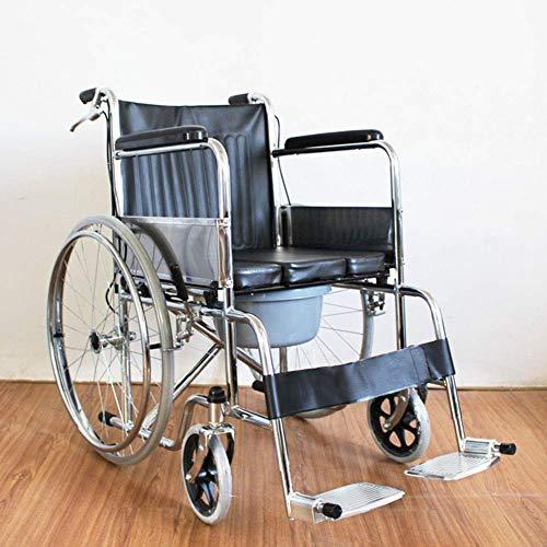 L-Y Espesar Ancianos Discapacitados Ultraligeros Plegables Ancianos Sillas de Ruedas Portátiles Ancianos Sillas de Ruedas Pequeño Volumen Inflable Gratis