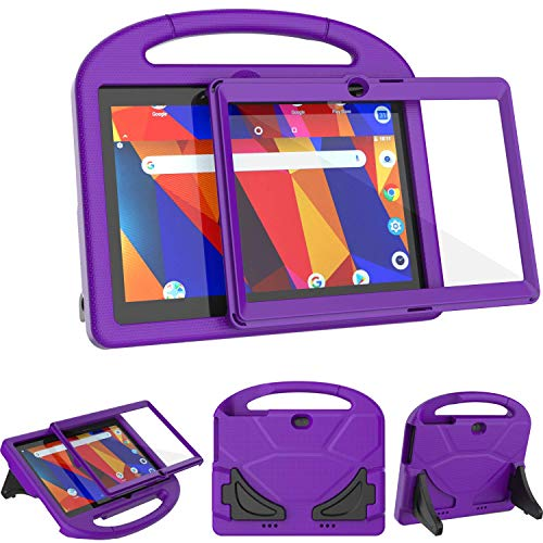 TeeFity Kids Case for Dragon Touch K10 Tablet, Light Weight Shock Proof Dragon Touch K10 Tablet Case with Built in Screen Protector for Dragon Touch K10 10.1 inch Tablet 2019 Release, Purple