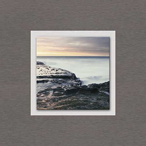 Eurographics Basin of Sky 50x50 Glasbild auf Metall, Float Glas, Aluminiumverbundmaterial, bunt, 50 x 50 x 3.5 cm