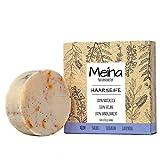 Meina - Haarseife Naturkosmetik - Bio Shampoo Bar mit Niem, Salbei, Teebaum und Lavendel (1 x 80 g)...