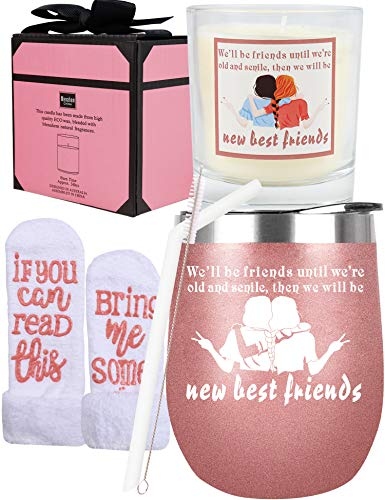 Friends Birthday Gifts for Women, Birthday Gifts for Friends Female, Friendship Gift for Women, Friend Presents,Best Friend Tumbler,Gifts for Best Friends Women,Friend Gifts for Women