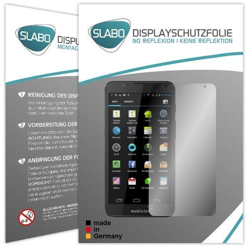 2 x Slabo Displayschutzfolie Mobistel Cynus T7 Displayschutz Schutzfolie Folie
