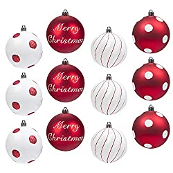 you can buy wooden decorations or theres a huge selection of shatterproof balls designed to bounce not break these are great for a red and white color - Child Proof Christmas Tree Decorations