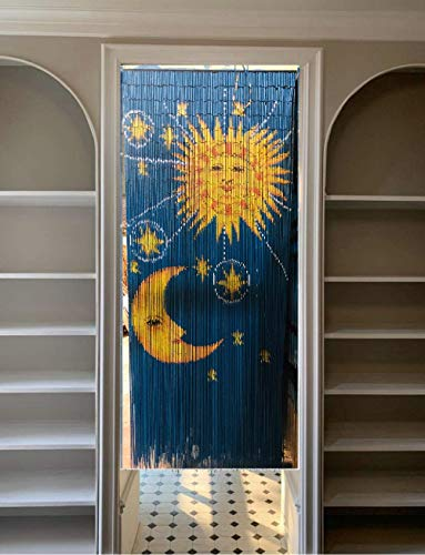 "36"" x 79""/ 90 Strings - Moon & Sun Beaded Curtain (Hanging Curtain)"