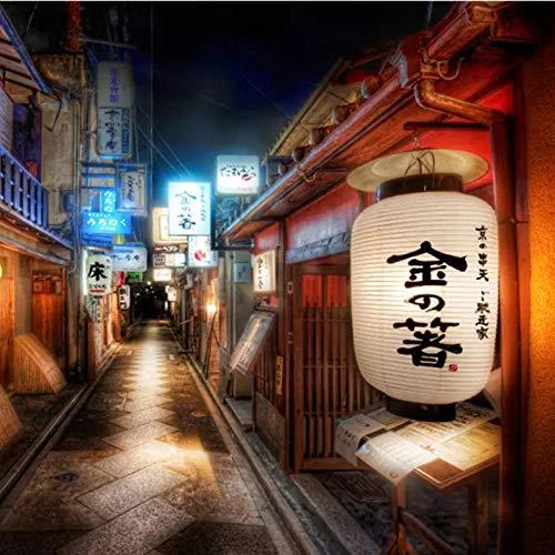 Lllyzz muurschildering personaliseerbaar, retro-stijl, Japanse stijl, restaurant sushi-tent, wandbehang, decoratief, 350 x 250 cm