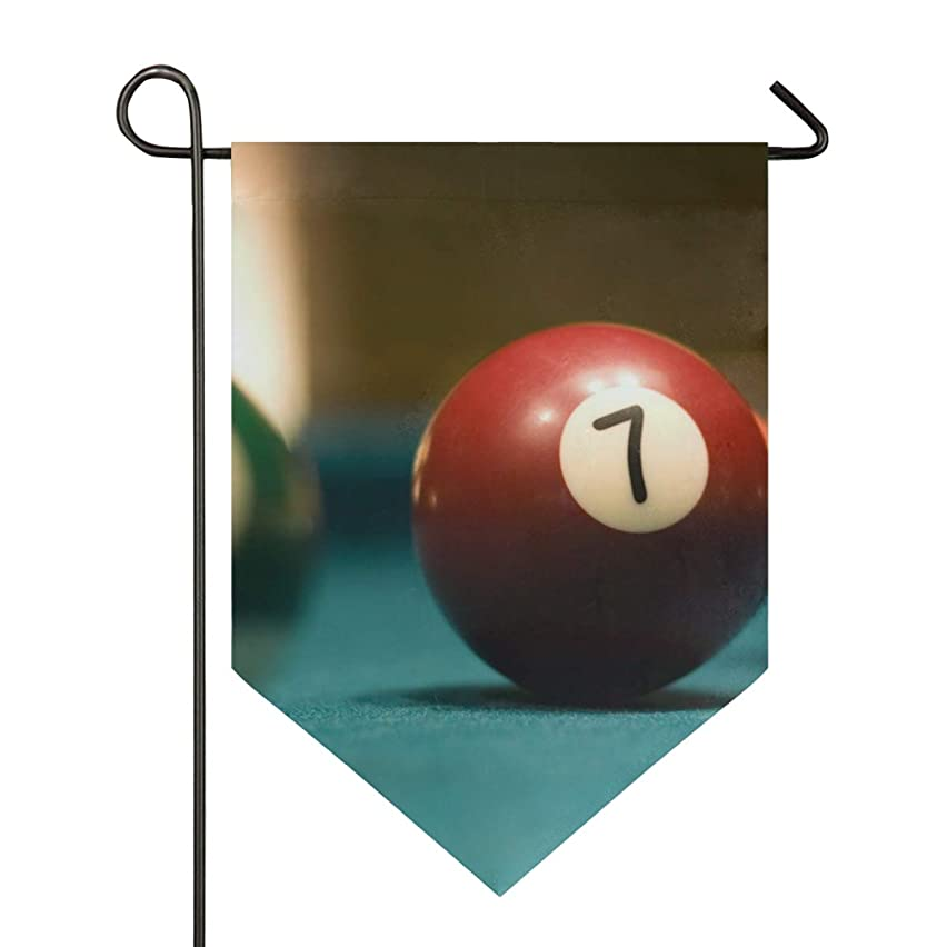 NOAON Garden Flag 3 Billiard Balls On Pool Table 12x18.5 Inch Double Sided Yard Decoration House Banner for Home Outdoor Anniversary Decor
