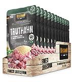 Belcando Frischebeutel [12x125g Truthahn mit Amaranth & Erbsen]   Nassfutter für Hunde   Feuchtfutter Alleinfutter im Einzelportionsbeutel