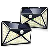 Solar Light Outdoor Motion Sensor with Light Reflector 270 LED Solar Security Light IP65 Waterproof Solar Wireless Wall Light with 4 Mode(Strobe Mode Added) and 270° Wide Angle(2 Pack)