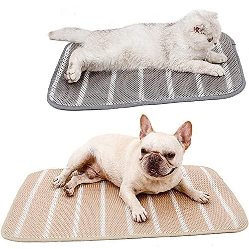 Hudxang Alfombrilla de refrigeración para perros para mascotas de color sólido cómodo mantener fresco para verano caliente para interiores y exteriores