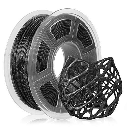 PLA 3D Filament 1.75mm, Sparkle Glitter PLA Filament Twinkling Blue 1KG Spool, PLA Twinkling Black Filament