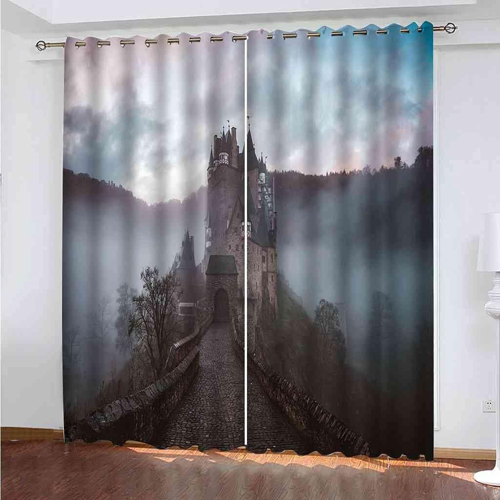 BXXYXH Blackout Curtains Fairy Tale C Max 54% OFF Printed Building 3D shipfree Castle