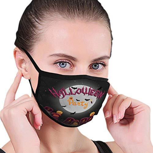Mond masker anti-stofmasker gezichtsmasker Halloween Verticale ES nacht pompoenen kaars volle maan Flyer sjabloon gelukkig partij