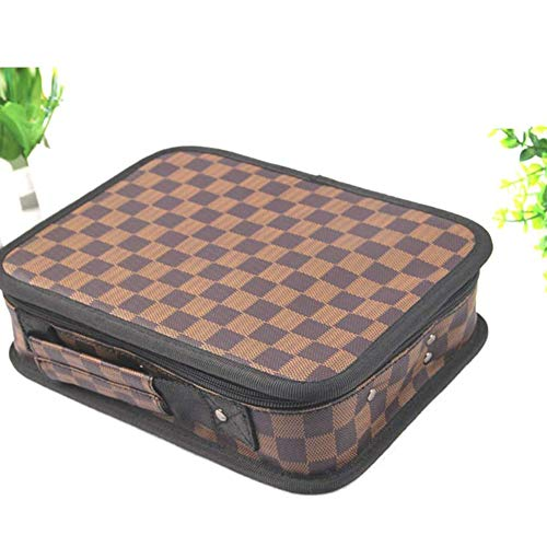 Portable Tondeuse Haar Tas Multifunctionele Rits Kapsalon Kappers Kit, Plaid
