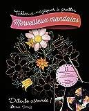 Merveilleux mandalas - 12 tabeaux détachables à gratter, inclus le crayon biface en bois