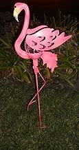 Solar Flamingo Light Garden 装饰带裂纹玻璃球