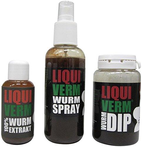 SUPERWURM LiquiVerm Bundle - Lockstoff zum Angeln - LiquiVerm + Spray + DIP