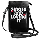 Bolsas pequeñas Monedero para teléfono celular del día de San Valentín con ranuras para tarjetas de crédito Cartera Bolso de hombro para mujeres y niñas adolescentes