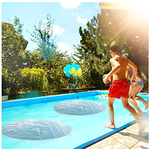 Xchenda Pool Heater Floats Solar Sun Heater Pool Cover 4 Foot Round Above Ground Blue Protection Swimming Pool For Garden Outdoor Swimming Pool Blue Buy Online In Cayman Islands At Cayman Desertcart Com
