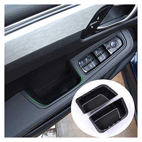 MIAOXIAO Seedling Store Ajuste para Porsche Macan 2014-2020 Puerta Interior Delantera Caja de Almacenamiento Caja de Almacenamiento Caja de Almacenamiento Accesorios para automóviles (Color : Black)
