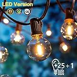 [26 LED Version] Lichterkette Außen,9 Meter 26 Glühbirnen OxyLED G40 LED Garten Lichterkette...