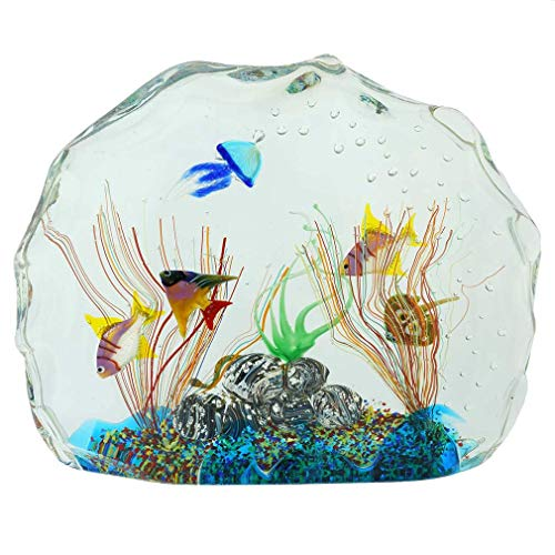 Murano Glas Aquarium Mit Fischen