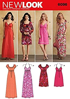 New Look Ladies Sewing Pattern 6096 Maxi & Knee Length Dresses