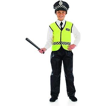 Fun Shack Negro Oficial De Policía Disfraz para Niños y Niñas - XL ...