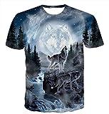Idgreatim Uomo Christmas Natale T Shirt 3D Stampato Dinosauro Estate Casual Manica Corta Maglietta X Top Tees