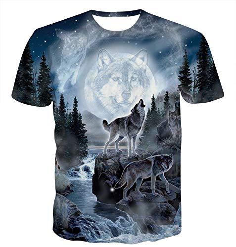 Idgreatim Uomo Christmas Natale T Shirt 3D Stampato...