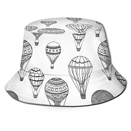 AJOR Globos de aire caliente pescador Sombreros Unisex Bucket Hat Sun Cap para Golf Pesca Caza Senderismo Camping Regalos