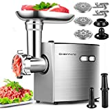 Electric Meat Grinder, CHEFFANO Stainless Steel Meat Mincer...