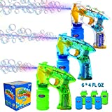4. JOYIN 3 Bubble Guns Kit for Bubble Blaster Party Favors, LED Bubble Machine Blaster Party Supplies, Summer Toy, Outdoors Activity, Birthday Gift, Bubble Blower Toy, Easter
