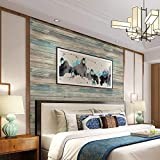Distressed Wood Peel and Stick Wallpaper 17.71' Wide x 236.2' Long Self-Adhesive Removable Wall Paper Wood Plank Covering Decorative Vintage Wood Panel Wooden Grain Vinyl Film Roll