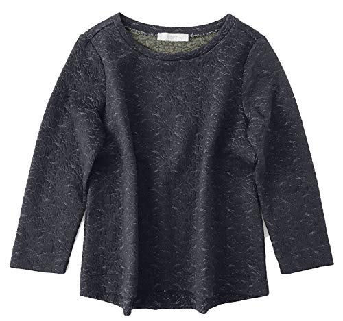 Ann Taylor LOFT Women's Oversized Metallic Quilted Sweatshirt (Medium)