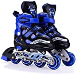 WireScorts Inline Skates Size Adjustable All Pure PU Wheels it has Aluminum which