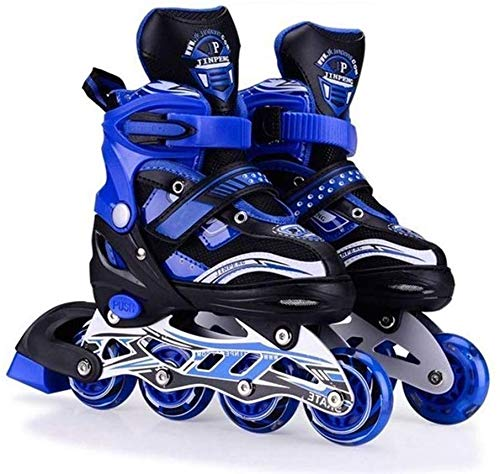 WireScorts Inline Skates Size Adjustable All Pure PU Wheels it has Aluminum which is Strong with LED Flash Light on Wheels Assorated Design & Multi Color